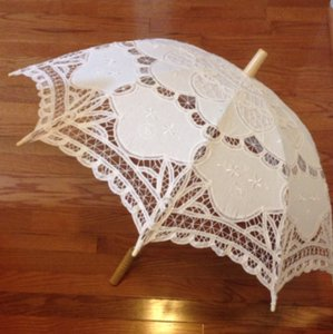 Handmade Cotton Umbrella Embroidered Lace
