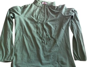 Zara V-neck Longsleeve Spring Fall Top green
