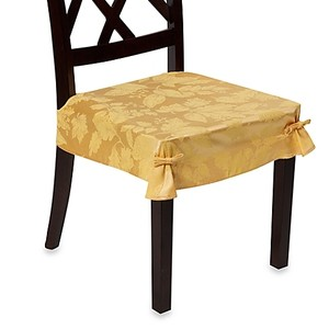 Autumn Wheat / Gold Chair Seat Covers