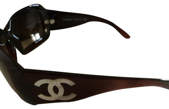 Chanel brown cc logo mother of pearl sunglasses