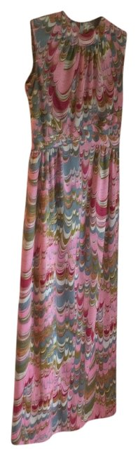 Pink Maxi Dress by Leslie Fay Vintage