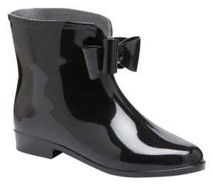 Henry Ferrera Rubber Waterproof Short Black/Black Bow Boots