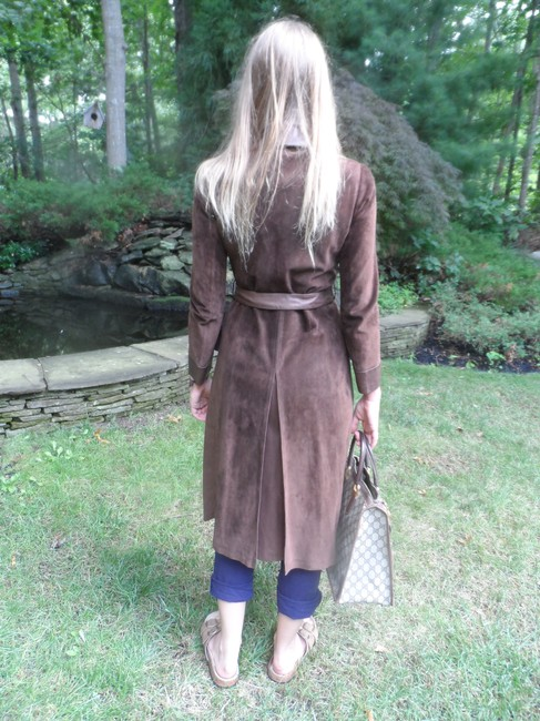 Gucci Vintage Suede Trench Coat