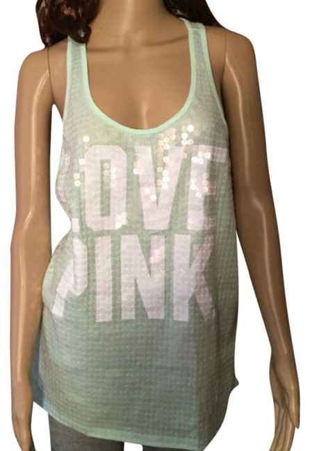 Preload https://item3.tradesy.com/images/pink-mint-bling-sequin-tank-topcami-size-10-m-5178052-0-0.jpg?width=400&height=650
