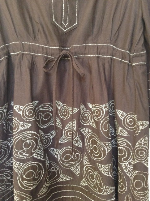 Femme Couture Top Brown with silver embroydery