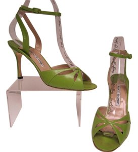 Manolo Blahnik Green Sandals