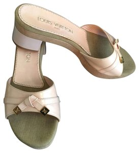 Louis Vuitton Marshmallow Light Pink Patent Leather Mules Mules