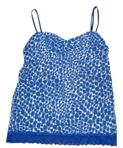 Aerie Top Blue & White Bubbles