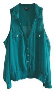 Guess Button Down Shirt Teal