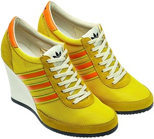 Jeremy Scott Designer Sneaker Sneaker Wedges Size 7 Wedges Yellow Platforms