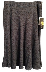 Jones New York Skirt Multi: Brown, blue, black