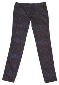 Free People Indian Skinny Pants purple with tribal print