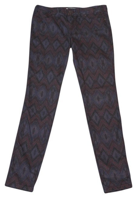 Free People Indian Free Skinny Pants purple with tribal print