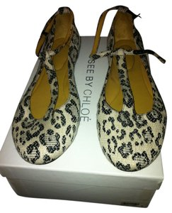 See by Chloé Leopard Animal Print Flats