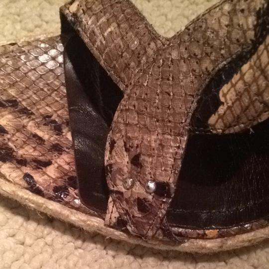 Via Spiga Snakeskin Wedges