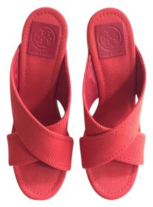 Tory Burch Cherry red Platforms