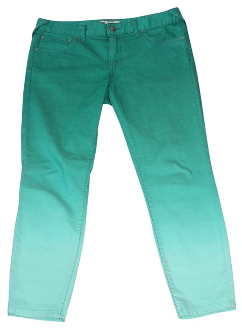 Free People Capris Green ombre