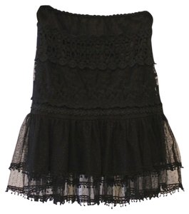 Boho Lace Skirt Black