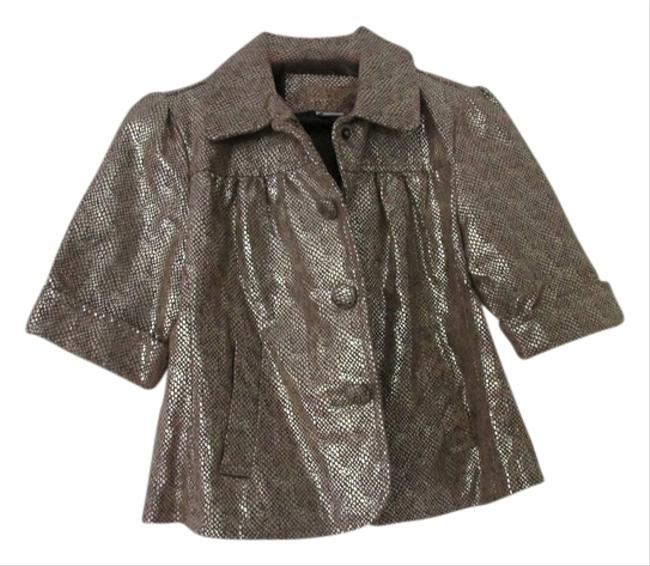 Preload https://item1.tradesy.com/images/live-a-little-fun-brown-leather-an-silver-blazer-5179915-0-0.jpg?width=400&height=650