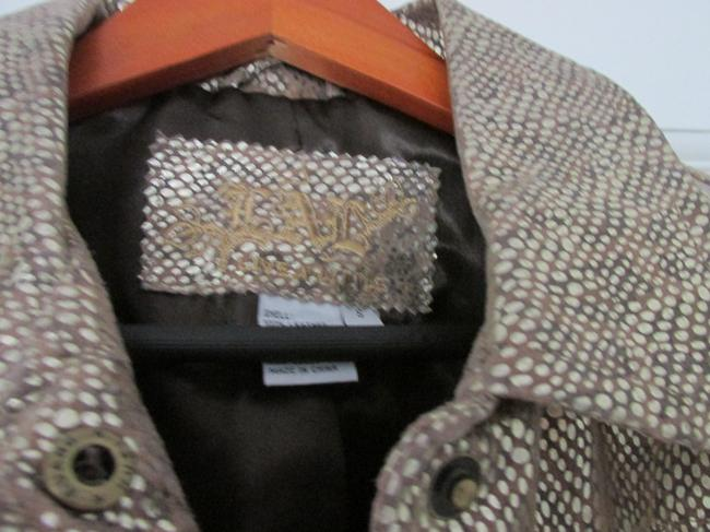 Live A Little Classic Fun brown leather an silver Blazer