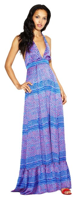 Karen Zambos Maxi Date Night Night Out Halter Print Dress