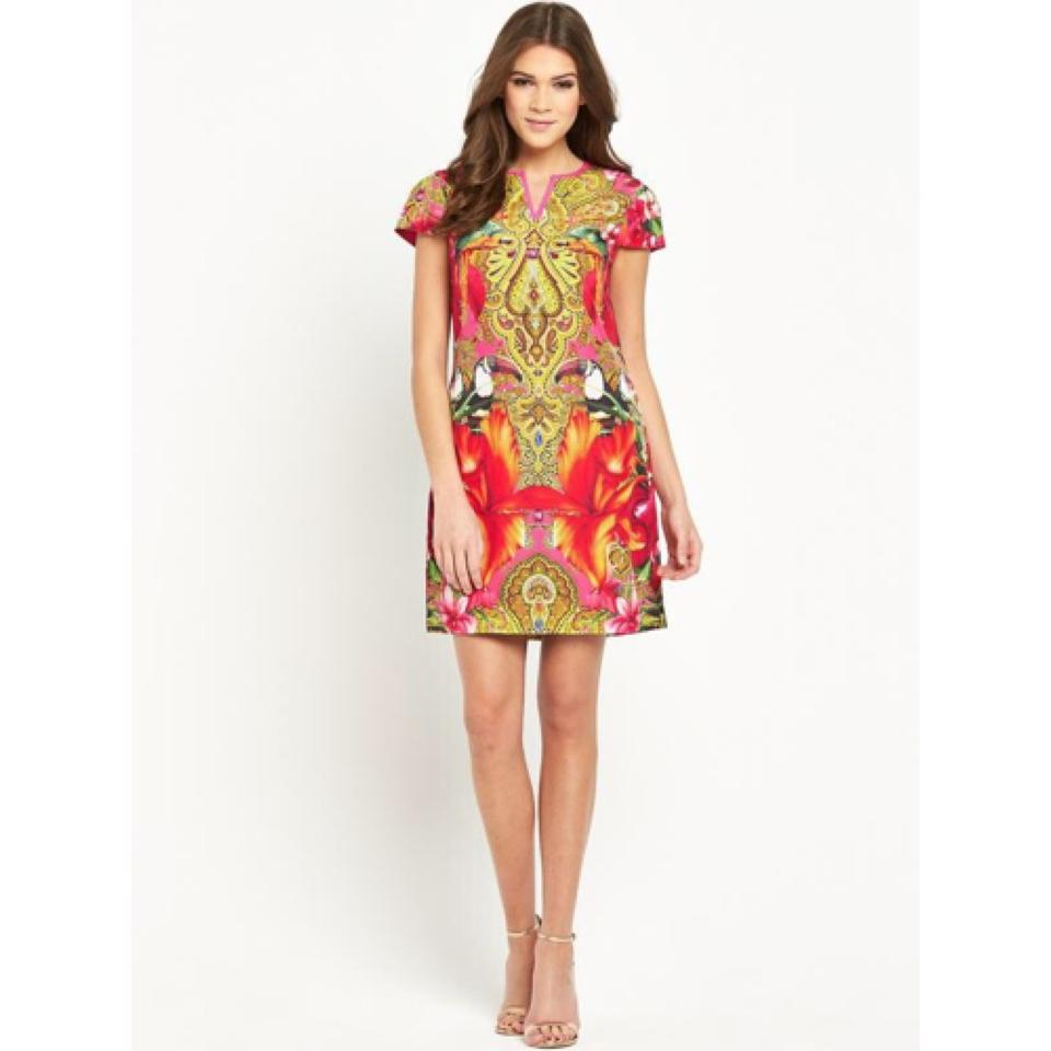 7947b912dd43d5 Ted Baker Bright Pink London Paisley Toucan Tunic Above Knee Night Out Dress  Size 0 (XS) - Tradesy
