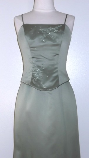 Alfred Angelo Victorian Lilac Satin Style Formal Bridesmaid/Mob Dress Size 0 (XS)