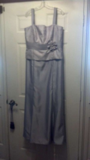 Silver Other Js Collections Formal Bridesmaid/Mob Dress Size 14 (L)