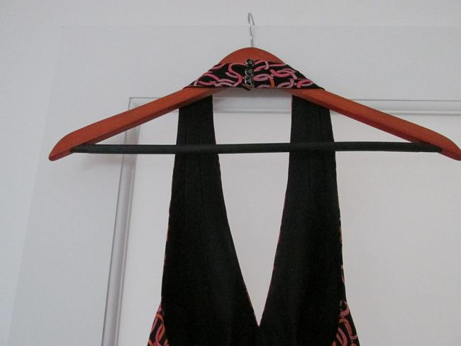 Trina Turk short dress Black Orange Pink Halter Fun on Tradesy