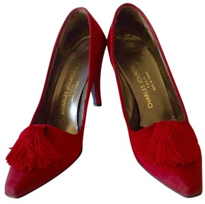 Charles Jourdan Cranberry red Pumps