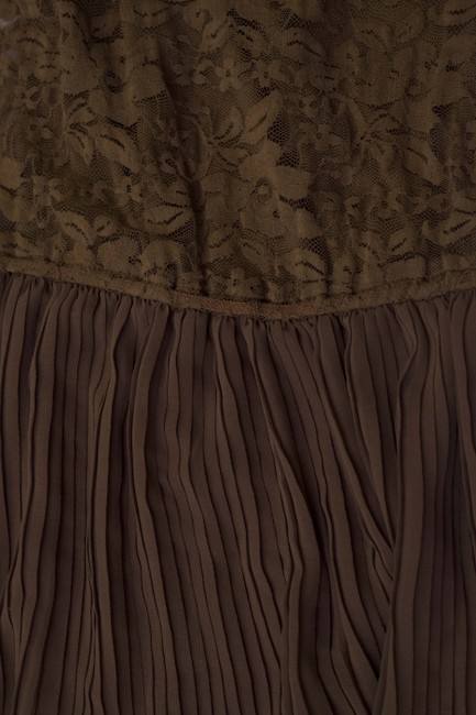 Forever 21 short dress Brown Lace Pleated on Tradesy