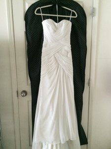 Pronovias Off-white Chiffon Modern Wedding Dress Size 2 (XS)