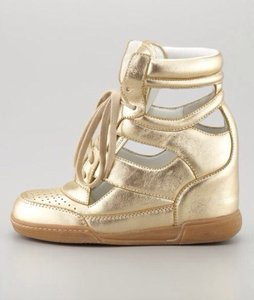 Marc by Marc Jacobs Gold Wedges