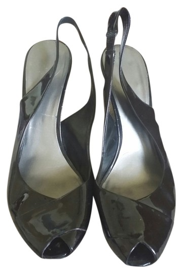 Nine West Black Patent Leather Wedges