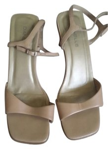 Danelle Beige Leather Sandals