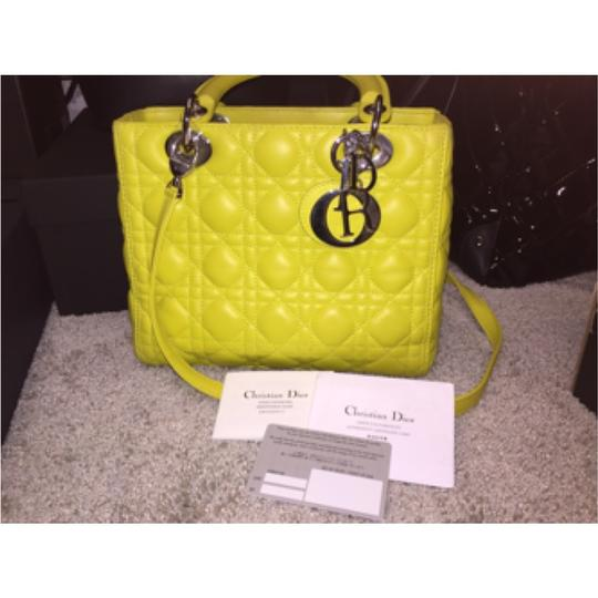 Christain Dior Satchel in Bright Yellow