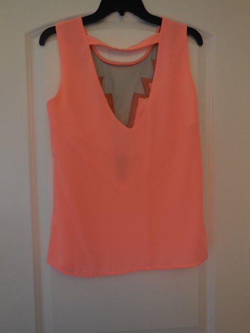 Lulu*s Tank Cutout Party Sexy Daring Top coral