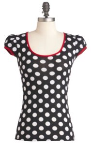 Modcloth Top Black and white