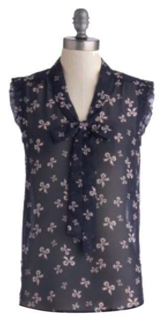 Modcloth Top Navy blue