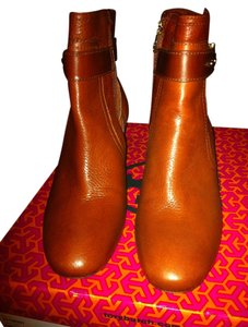 Tory Burch Leather Pine Red Boots