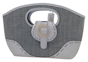 Preston & York White/Sage Clutch