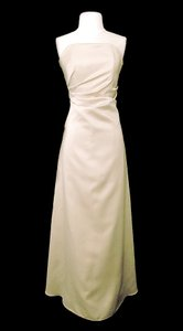 Alexia Designs Champagne Satin Style 1250 Formal Bridesmaid/Mob Dress Size 14 (L)