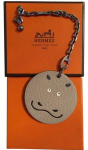 Hermès Authentic Hermes leather Hippo charm /keychain - RARE