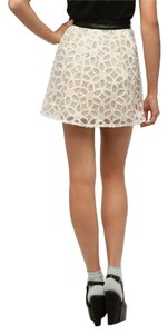 Pins and Needles Urban Outfitter Uo Mini Skirt While with Floral Overlay