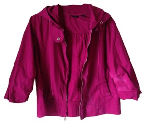 New York & Company Rain Cropped Bright Magenta Jacket
