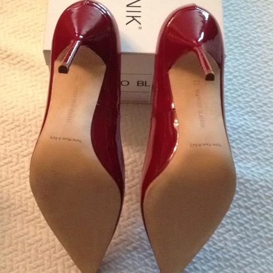 Manolo Blahnik Bb Patent Leather New Bb Deep red Pumps