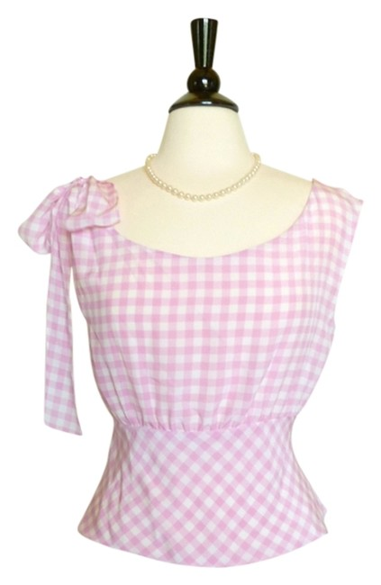 Prada Top Pink and White