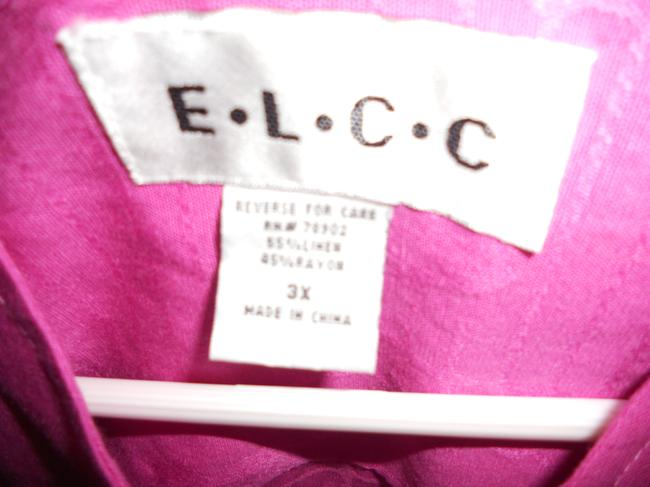 E L C C 2 Piece Pantsuit with Mandarin Jacket