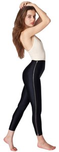 American Apparel Zipper Tricot Black Leggings