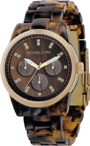 Michael Kors Michael Kors Women's Ritz Tortoise-Shell Strap Chronograph Watch MK5038